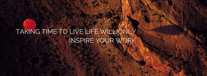 Take time to inspire your work