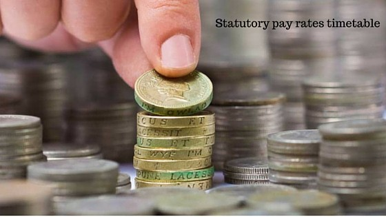 Statutory pay rates timetable