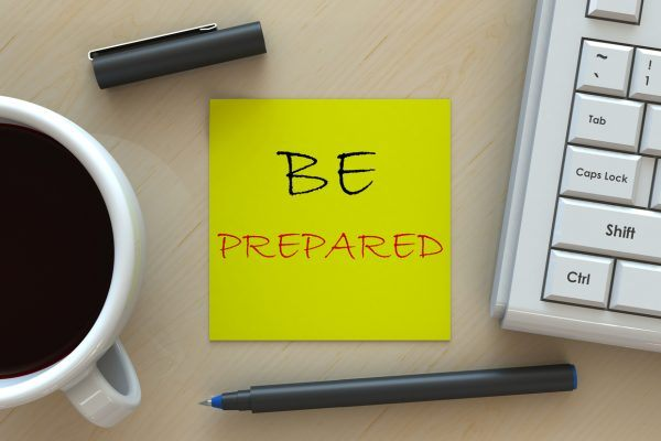 HR Tips - Be Prepared