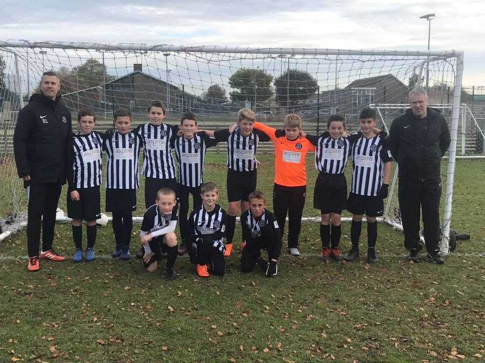 Cambourne FC under 12's sponsored by aspire cambridge